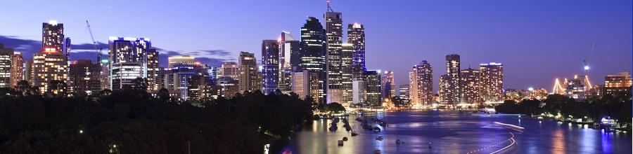 Brisbane City Skyline during Blue Hour
