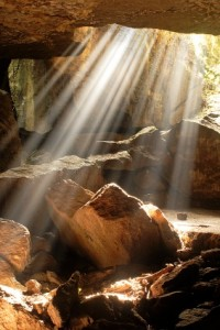 trauma counselling - light coming into a cave