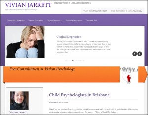 Viv J website snapshot