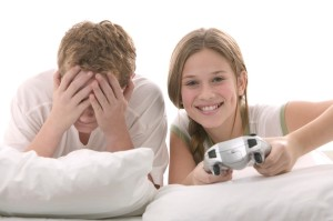 teens playing PS