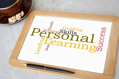 blackboard with personal coaching word cloud