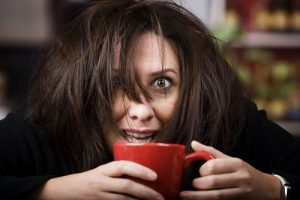 caffeine intoxication or suffering from anxiety KV